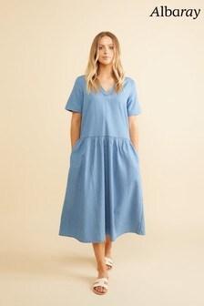 Albaray Denim V-Front Dress
