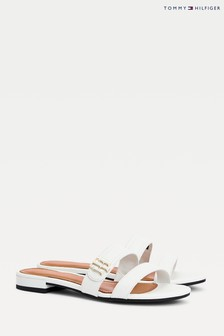 Tommy Hilfiger Flat Leather Mule Sandals