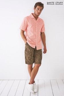 White Stuff Red Geo Wave Print Shirt