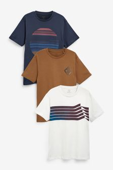 Lines Mix Graphic T-Shirts 3 Pack