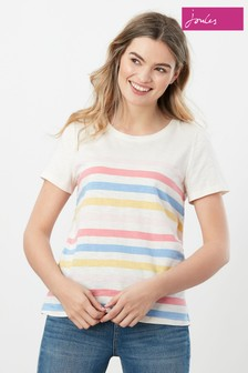 Joules Carley Stripe Classic Crew T-Shirt