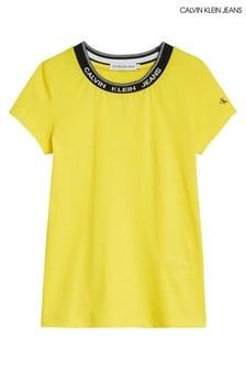 Calvin Klein Jeans Yellow Intarsia T-Shirt