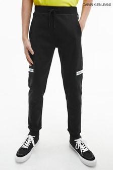Calvin Klein Jeans Black Intarsia Joggers