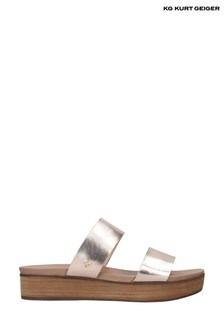 KG Kurt Geiger Metallic Robby Sandals