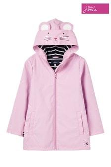 Joules Pink Riverside Showerproof Character Raincoat