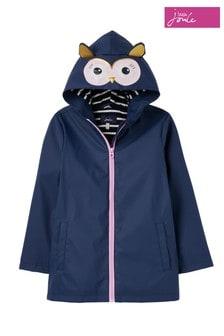 Joules Blue Riverside Showerproof Novelty Raincoat 1-12 Years