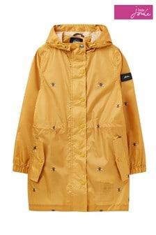Joules Yellow Golightly Waterproof Recycled Lightweight Rain Mac