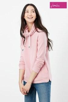 Joules Pink Nadia Ribbed Sweatshirt