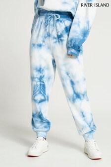 River Island Blue Tie Dye Joggers