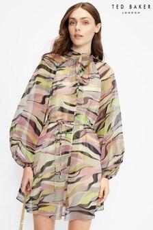 Ted Baker Zeenaa Blouson Sleeve Mini Dress