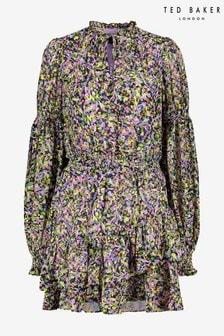 Ted Baker Karliie Tiered Smock Detail Mini Dress