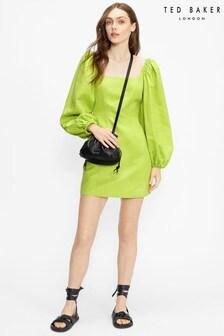 Ted Baker Disina Mini Jacquard Exaggerated Sleeve Dress