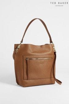 Ted Baker Brown Cafrin Zip Detail Hobo Bag