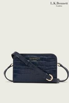L.K.Bennett Blue Mini Marie New Cross-Body Bag