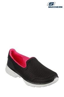 Skechers Black Go Walk 6 Big Splash Shoes