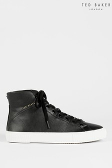 Ted Baker Kimyil Leather Colour Drench High Top Vulcanised Trainers