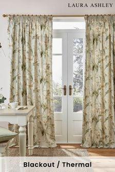 Laura Ashley Sage Gosford Pencil Pleat Curtains