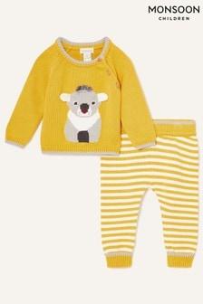 Monsoon Yellow Newborn Koala Knit Set