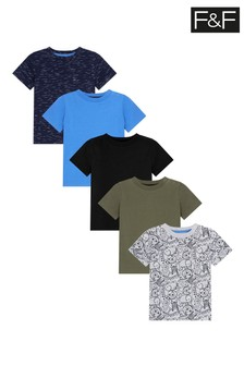 F&F Baby Boys Tops 5 Pack