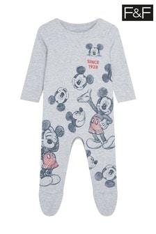 F&F Mickey Sketch Sleepsuit