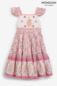 Monsoon Purple Mix Floral Tiered Maxi Dress
