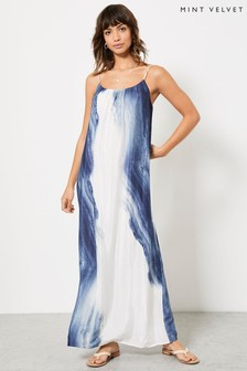 Mint Velvet Womens Beth Print Column Maxi Dress