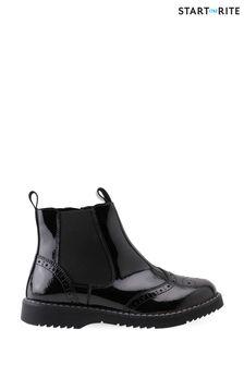 Start-Rite Revolution Black Patent Leather Zip-Up Boots
