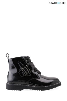 Start-Rite Icon Black Patent Leather Zip-Up Boots