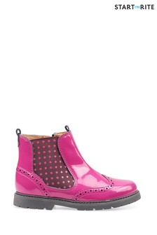 Start-Rite Chelsea Berry Glitter Patent Leather Boots