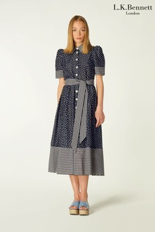 L.K.Bennett Smith Cotton A-Line Dress