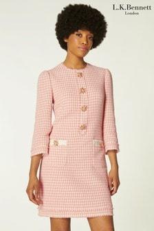 L.K.Bennett Beau Pink Tweed Dress