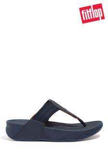 FitFlop Blue Walkstar Webbing Toe-Post Sandals