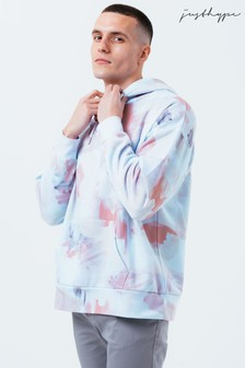 Hype. Blue Watercolour Mens Oversized Hoodie