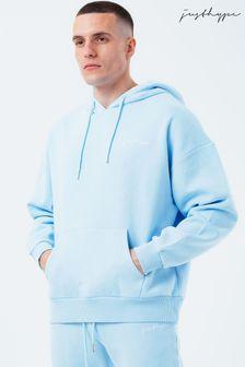 Hype. Mens Blue Vintage Drop Shoulder Hoodie