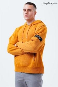 Hype. Orange Mens Drop Shoulder Hoodie