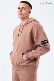 Hype. Brown Mens Drop Shoulder Hoodie