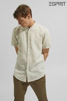 Esprit Short Sleeve Linen Blend Shirt
