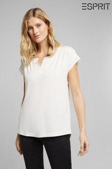 Esprit White Lyocell Blend T-Shirt