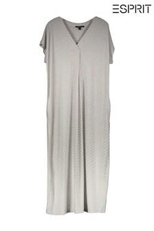 Esprit White Striped Tunic Dress