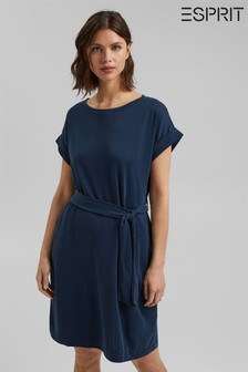 Esprit Blue Flowy Jersey Dress