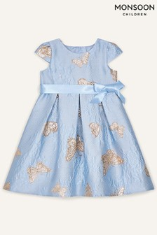 Monsoon Baby Butterfly Jacquard Dress