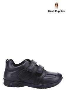 Hush Puppies Black Levi Infant School Shoes