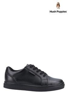 Hush Puppies Black Sam Junior School Shoes