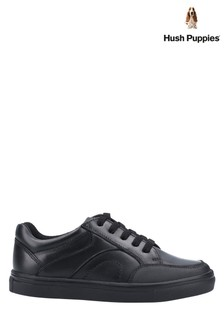 Hush Puppies Black Shawn Junior School Shoes