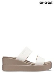 Crocs Brown Brookly Mid Wedge Sandals