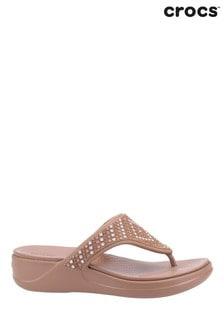 Crocs Brown Monterey Shimmer Sandals