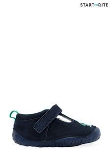 Start-Rite Stomper Blue Leather Dino T-Bar Prewalker Shoes