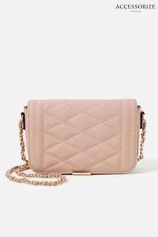 Accessorize Pink Chrissy Quilted Chain Cross-Body Bag