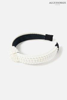 Accessorize Natural Pearl Knot Headband
