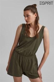 Esprit Green Jersey Jumpsuit